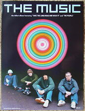 THE MUSIC The Music RARE Debut Album PROMO Poster ROBERT HARVEY Adam Nutter Band