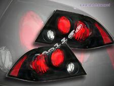 02-03 Mitsubishi Lancer Tail Lights JDM Black Lamps