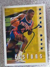 Detroit Pistons Joe Dumars Signed 1993 Upper Deck Card Auto