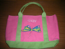 "Pottery Barn Kids pink Eric Carle Butterfly Tote ""Gaby""    *New*"