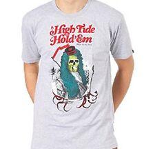 Nixon High Tide Short Sleeve Tee T-Shirt (M) Heather Grey S1657070-03