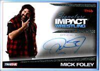 TNA Mick Foley 2011 Signature Impact GOLD Autograph Card SN 3 of 25