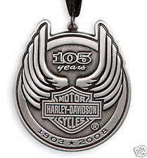 HARLEY DAVIDSON 105TH ANNIVERSARY PEWTER CHRISTMAS ORNAMENT