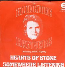 7inch BLUE RIDGE RANGERS feat john c frogerty HEARTS OF STONE red cover