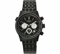 *REDUCED* Genuine ROTARY Men's GS03778 Black Ion Plated Chronograph Watch DEAL