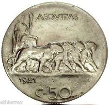 Vittorio Emanuele III (50 C.-Quadriga di leoni) 1921 RIGATO