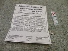 Aerocolours decals 1/144 Sheet#AC415 Austrian Airlines Metroliner    Box 12
