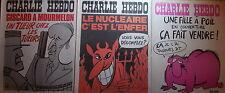 "Lot de 3 ""CHARLIE HEBDO""       17 et 24 avril 1975, 8 mai 1975 ; n°s 231-232-234"