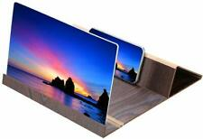 12 Inch Portable Wooden Screen Amplifier Magnifier Mobile Phone Holder Foldable