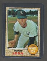 1968 Tommy John (Chicago White Sox) Topps #72 EX.
