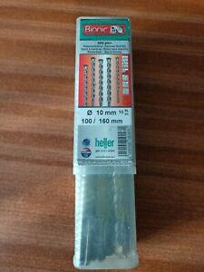 QUALITY HELLER  SDS+ Plus DRILL BITS Plus Masonry Concrete Stone m10 x 160mm
