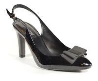 """Ecco Patent Leather Black Heels Size 7/7.5 (Euro 38) 3.5"""" Heel"""