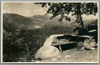 RPPC Postcard Bear Valley CA Lookout Point Emigrant Gap forest scenery Unposted