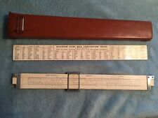 Vintage Machinists Tool Eugene Dietzgen Slide Rule 1746 Usa With Leather Case