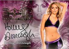 Holley Dorrough 2012 Bench Warmer Happy New Year Autograph Auto