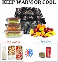 Insulated Food Lunch Bag Tote Thermal Lunch Box Thermos Cooler for Women Men