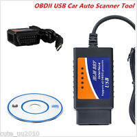 2016 ELM327 USB Interface OBD2 Connector V1.5 Auto Scanner Code Reader Chip Car