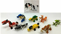 6 Dinosaur Building Brick Kits - Pinata Toy Loot/Party Bag Filler Kids Childrens