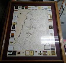 Vintage Napa Valley Wine Map Expedition Terrarum Typus De Intego Print Framed