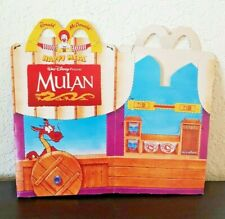 DISNEY Vintage MULAN McDONALD'S HAPPY MEAL BOX from Italy POUNCH OUT Unused