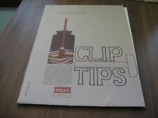 Rare Vintage 1968 MEAD PAPERS CLIP TIPS 12th Ed ~ 35 SHEETS ~ Clip Art ~