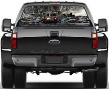 NYFD FIRE TRUCK AT 9/11 Window Graphic Decal Sticker Truck SUV Van Car