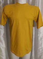 """AMERICA Perry Ellis embroidered cotton Gold T-Shirt mens M 40"""" chest New no Tags"""