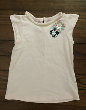 Carter's Toddler Girl Pink Cotton T-Shirt Top with Flower Embellishments- Sz 2T