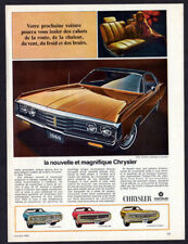 1969 CHRYSLER New Yorker 2-door Hardtop Vintage Original Print AD - 300, Newport