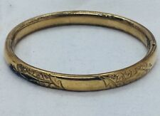 Filled Ornate Bangle Bracelet Antique Victorian Yellow Gold