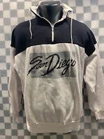 Vintage SAN DIEGO Black White Sweat Shirt Size XL