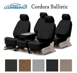 Coverking Custom Seat Covers Ballistic Canvas Front and Second Row - 5 Colors