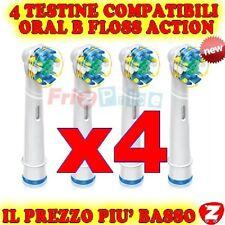 Spazzolino Floss 4 Action Ricambio Testine Elettrico Compatibili Braun Oral B bz