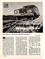 1963 WILLYS 4WD WAGONEER ~ ORIGINAL 7-PAGE ROAD TEST / ARTICLE / AD