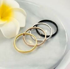 1MM Stainless Steel Men Women Wedding Engagement Anniversary Ring Band Size 5-15
