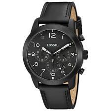 Fossil FS5157 Gent's Pilot 54 Black Dial Chrono Black Band Watch
