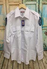 National Patrol White Mens Sz 16-16 1/2 36/37 Security Uniform Shirt Costume. Y