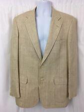 Jos A Bank Mens Blazer Suit Jacket Sports Coat Silk 2 Button Beige Sz 44