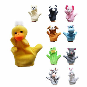 Cute Animal Hand Puppets Baby Nursery Children Kids Story-Time Play Education AU