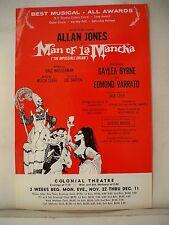 MAN OF LA MANCHA Herald ALLAN JONES / GAYLEA BYRNE Tour BOSTON Colonial 1971