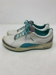 WOMENS ECCO NATURAL MOTION HYDROMAX BIOM GRAY TEAL GOLF SHOES SIZE 39 US 8.5