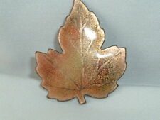 VINTAGE AUTUMN FALL ENAMELED MAPLE LEAF PIN BROOCH SIGNED MASTERS NC