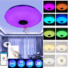 Large LED Ceiling Light Lamp RGB Bluetooth Music Speaker Dimmable for Bedroom
