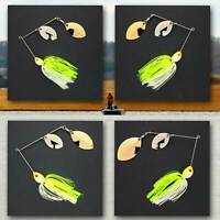 Bassdozer spinnerbaits DOUBLE OKLAHOMA CHARTREUSE WHITE spinnerbait spinner bait