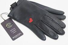 Roeckl Handschuhe hearts echt Leder touch schwarz Handyhandschuhe Haarschafleder