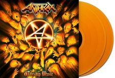 ANTHRAX WORSHIP MUSIC 2x LP *RARE* ORANGE VINYL EU PRESS 2011 LTD 500 COPIES New