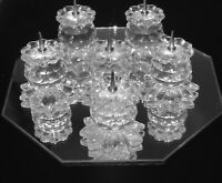 Vintage SWAROVSKI 5 Pin Style Candle Candlestick Holders 7600 NR131000 RETIRED