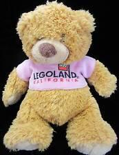 "Legoland Lego Tan Bear Plush  Soft Toy Stuffed Pin T-shirt Animal 10"""