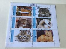 Domestic Cats  stamps sheet Ref 54719