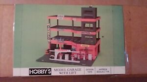 Hobby's Fitting Kit 1575 Model Garage with Lift Plan + Accessories